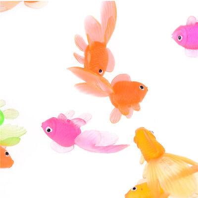 20pcs Plastic Simulation Small Goldfish Soft Rubber Gold Fish Kids - Small Goldfish