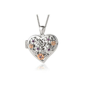 BRAND NEW Clogau Silver & Rose Gold Secret Garden Flower Heart Locket £50 off!