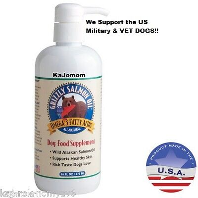 16 oz GRIZZLY 100% SALMON OIL DOG CAT FOOD SUPPLEMENT FRESH SEALED GENUINE  ()