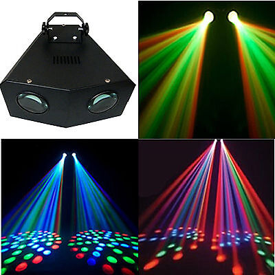 Disco Party Lights LED Stage Lighting Music Active Dual Rotating DJ Lights