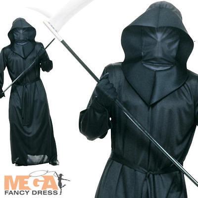 Phantom of Darkness Halloween Grim Reaper of Death Men's Fancy Dress Costume - Phantom Of Darkness Costume