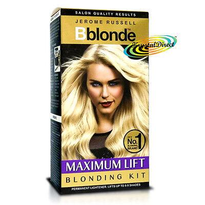Jerome Russell Bblonde Permanent Hair Lightener Blonding Kit MAXIMUM LIFT