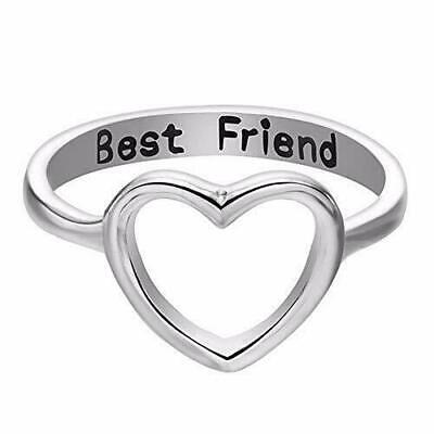 Women Love Heart Best Friend Ring Promise Jewelry Friendship Rings Girl Gift