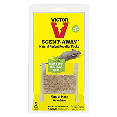 Victor M805 Scent-Away Natural Rodent Repeller Pack, 5/Pack