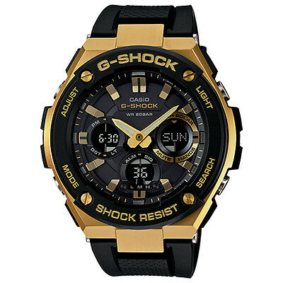 Casio G-Shock GSTS100G-1A G-Steel Gold Tone with Black Resin Band Men's Watch