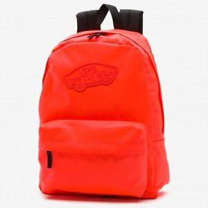 Vans Realm Backpack Rucksack School Bag Orange Travel Sports Leisure Shoulder