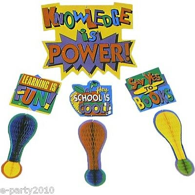 KNOWLEDGE IS POWER HANGING DECORATION ~ Party Supplies School Learning Classroom