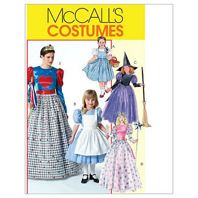 McCall's MP264 Alice Dorothy Witch Queen of Hearts Costumes Pattern S M L XL New - Queen Of Hearts Costume Pattern