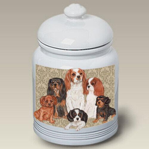 Cavalier King Charles Spaniel Ceramic Treat Jar PS 52055