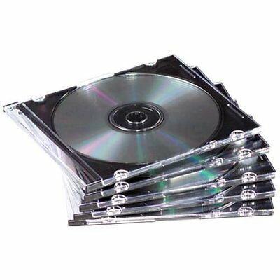Fellowes Fel-98335 Thin Cd/dvd Jewel Case - Book Fold - Plastic - Clear, Black (Fold Plastic Clear Black Cd)
