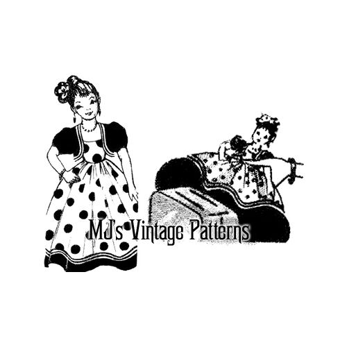 Vintage Toaster Cover Doll Pattern ~ Senorita