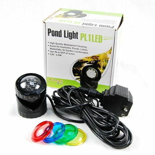 Single 12-LED Underwater Spot Light 4 Fountain Fish Pond 1.6W Energy Efficiency