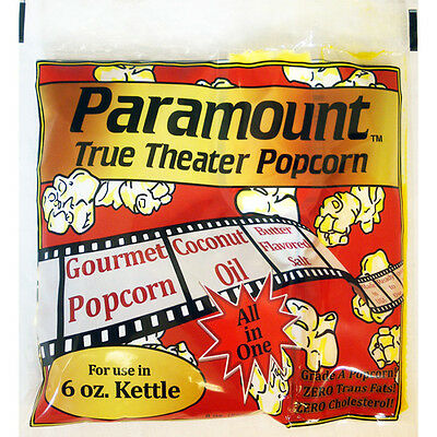 6oz - Case of 24 Individual 6 Ounce Popcorn Portion Packets Kit Packs