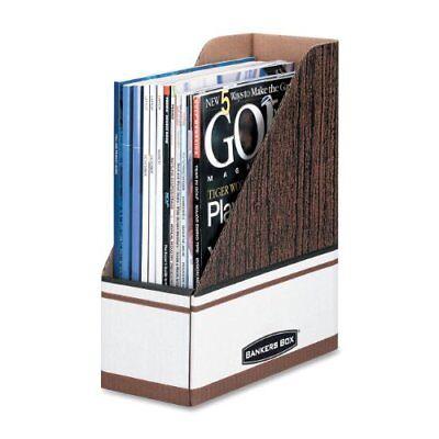Bankers Box Magazine Files - Oversized Letter - Blue Wood Grain White -