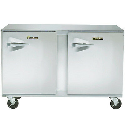 Traulsen Uht72-rr 72 Two Section Undercounter Refrigerator- Hinged Right