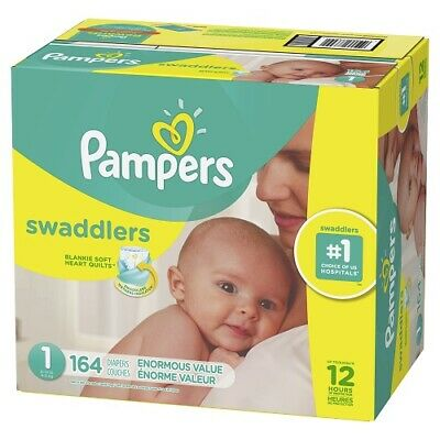 Pampers Swaddlers Newborn Diapers Size 1 164 Count