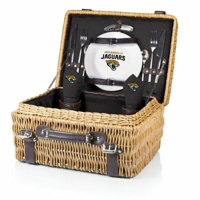 NFL Jacksonville Jaguars Champion Picnic Basket with Deluxe Service for Two, -