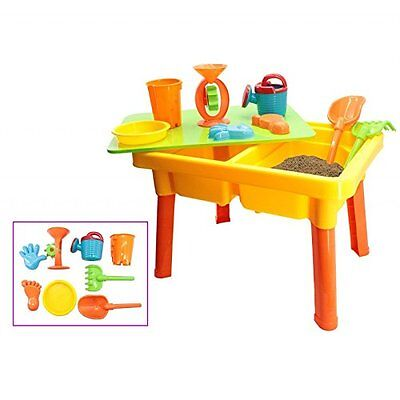 deAO Basic Sand and Water Table with Lid for Toddlers w/ Assorted Accessories