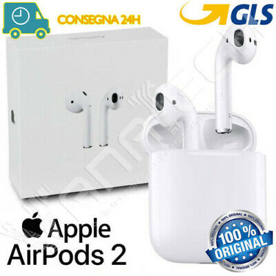 CUFFIE ORIGINALI APPLE AIRPODS 2 BLUETOOTH 2a GENERAZIONE MV7N2ZM/A GLS 24/48H