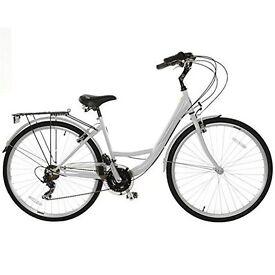Dunlop Women's Bicycle Tourer White with Basket