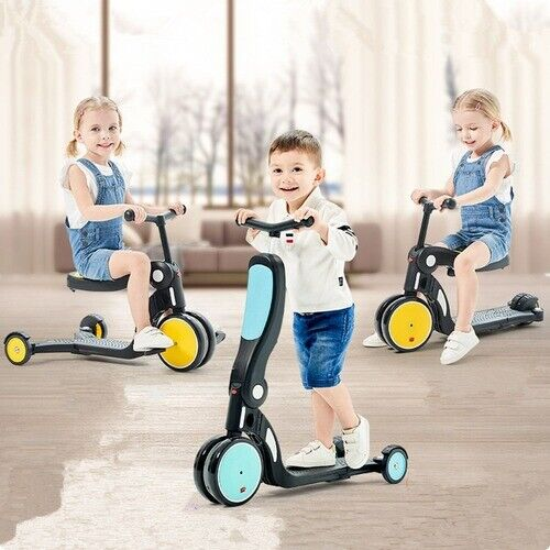 RED//BLUE Children Scooter Tricycle Baby 3 In 1 Balance Bike Ride On Toys Gift