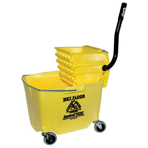 Side Press Bucket/Wringer Combo, 35 Qt., Gray