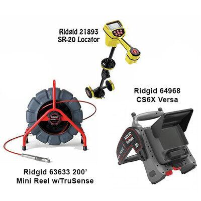 Ridgid 200 Mini Reel 63633 Seektech Sr-20 Locator 21893 Cs6x Versa 64968