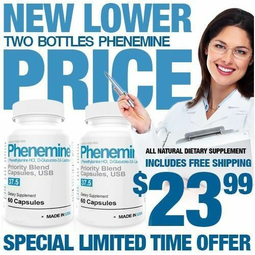 Phenemine 120CT Weight Loss Diet Pills Strongest Fat Burner Appetite Suppressant