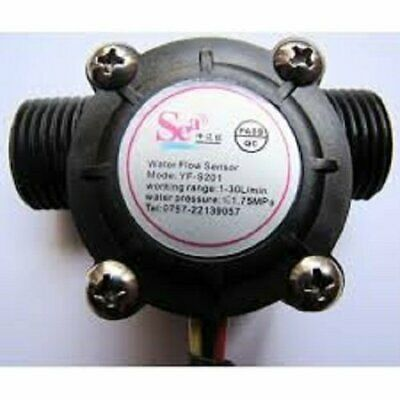 12 Water Flow Sensor Switch Hall Flow Meter Counter 1-30lmin For Arduino