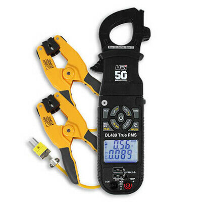 Uei Dl489combo True-rms Clamp-on Meter With Pipe Clamp Probes