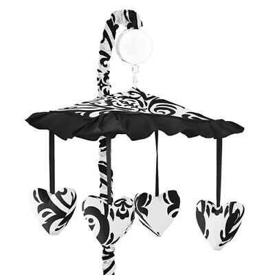 Sweet Jojo Designs Black and White Isabella Musical Baby Cri