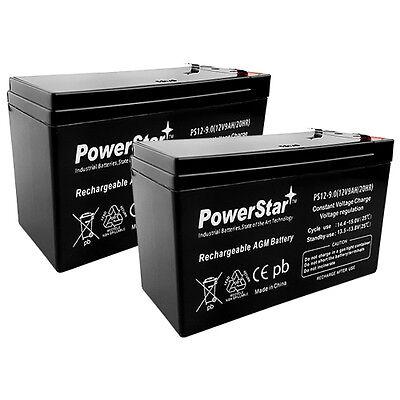 Powerstar 2 X 12v 9ah Battery Kit For Electric Scooter Bi...