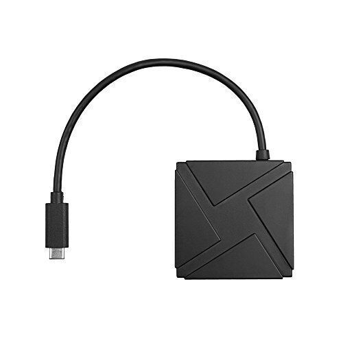 4-Ports USB-C Hub Powered Adapter Combo convertor adapters cable [Black]