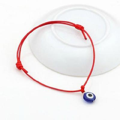 Good Luck Mati Bead Evil Eye Red String Kabbalah Bracelet Charm Protection for sale  Hayward