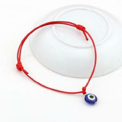 Good Luck Mati Bead Evil Eye Red String Kabbalah Bracelet Charm Protection (String Bracelet)