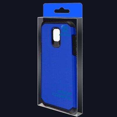 Blue Black Impact Skin Case Cover For Samsung Galaxy Express Prime 3 /J3 Achieve Black Impact Skin Case