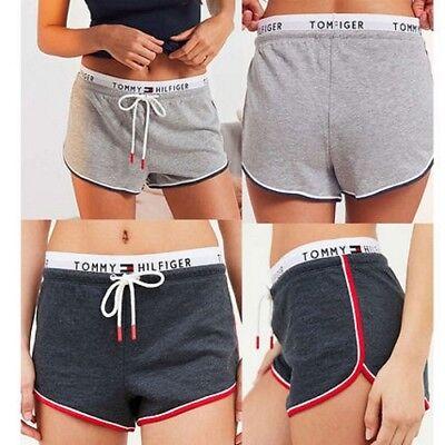 French Terry Logo Short (Tommy hilfiger logo band shorts french terry cute trendy jogger shorts tommygirl)
