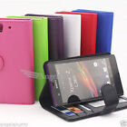 Leather Mobile Phone Wallet Cases for Sony Xperia Z