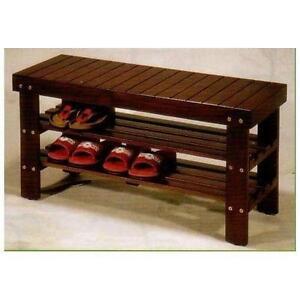 Storage Bench Outdoor Shoe Patio Entryway Ebay