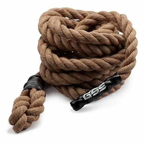 Exercise Gym Climbing Rope with Hook for Cross Fitness Strength Workout, 8 Sizes