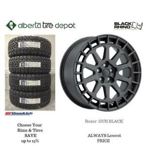 OPEN 7 DAYS LOWEST PRICE Save Up To 10% Black Rhino BOXER GUN BLACK. Alberta Tire Depot