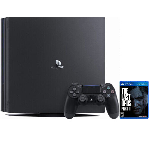PlayStation 4 Pro 1TB Console Black + The Last of Us Part II Standard Edition