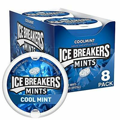 ICE BREAKERS Sugar Free Mints Coolmint 1.5 Ounce Pack of 8