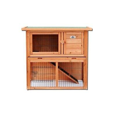 Confidence Pet 36� 2 Tier Rabbit Hutch Bunny Guinea Pig Cage Pen Built In Run for sale  Henderson