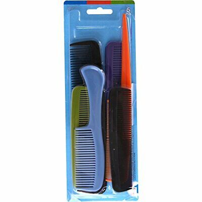 Goody - Hair Products Family Set of 6 Combs - Assorted Color