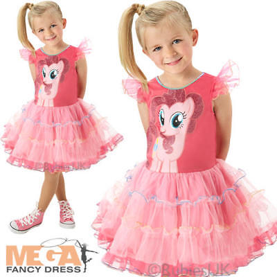Deluxe Pinkie Pie Girls My Little Pony Fancy Dress Childs Kids Costume Outfit ()