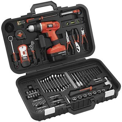 Black & Decker 14.4V Cordless Drill w/ 133 Piece Project Set - PS14PKS on Rummage