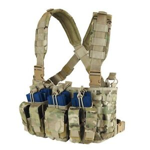 CONDOR-MOLLE-Tactical-Nylon-Recon-Chest-Rig-Mag-holder-Vest-mcr5-MultiCam-Camo