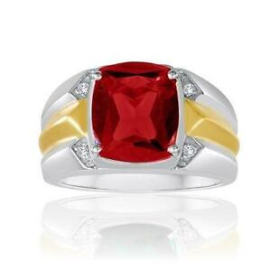 Mens Antique Ruby Ring