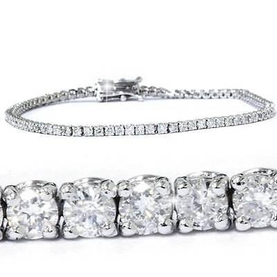 "3ct Round Cut Diamond Tennis Bracelet In 14k White Gold 7"""